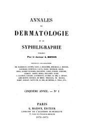 Annales de dermatologie et de syphiligraphie: Volume5