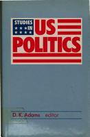 Studies in US Politics PDF