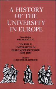 A History of the University in Europe  Volume 2  Universities in Early Modern Europe  1500 1800  Book