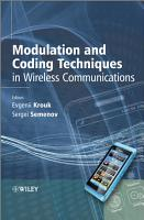 Modulation and Coding Techniques in Wireless Communications PDF