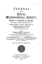 Journal of the Royal Microscopical Society, Containing Its Transactions and Proceedings and a Summary of Current Researches Relating to Zoology and Botany (principally Invertebrata and Cryptogamia), Microscopy, &c. ...: Volume 2