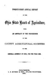 Annual Report of the Ohio State Board of Agriculture: Issue 21