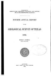 First-fourth Annual Report of the Geological Survey of Texas, 1889-1892: Edwin T. Dumble, State Geologist, Volume 4, Issue 1
