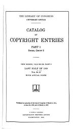 Catalog of Copyright Entries. Part 1. [B] Group 2. Pamphlets, Etc. New Series