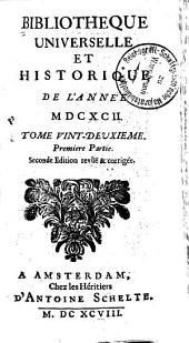 Bibliothèque universelle et historique: Volume22
