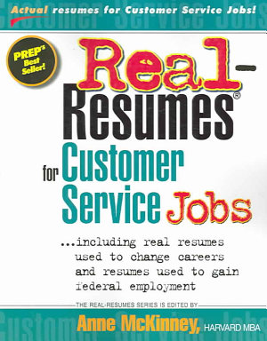 Real Resumes for Customer Service Jobs PDF