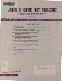 Journal of Aquatic Plant Management PDF