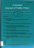 Armenian Journal of Public Policy PDF