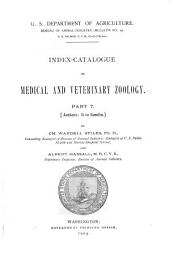 Index-catalogue of Medical and Veterinary Zoology: Authors