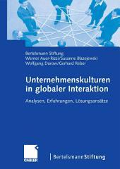 Unternehmenskulturen in globaler Interaktion: Analysen, Erfahrungen, Lösungsansätze
