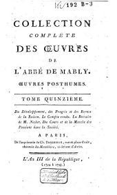 Collection complète des oeuvres de l'abbé de Mably: Volume15