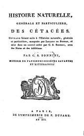 Histoire naturelle, générale et particulière des Cetacées
