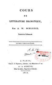 Cours de littérature dramatique
