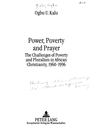 Power, Poverty and Prayer