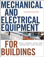 Mechanical and Electrical Equipment for Buildings PDF