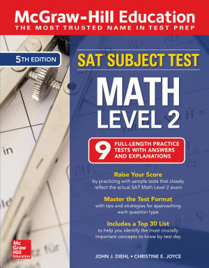 McGraw Hill Education SAT Subject Test Math Level 2  Fifth Edition