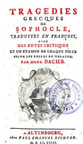 Tragedies grecques de Sophocle