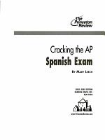 Cracking the AP Spanish  2002 2003 Edition PDF