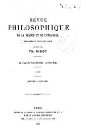 Revue philosophique de la France et de l'étranger: Volume27