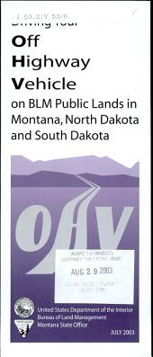 Driving your off highway vehicle on BLM public lands in Montana, North Dakota and South Dakota