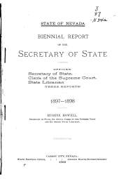 Report of the Nevada Secretary of State