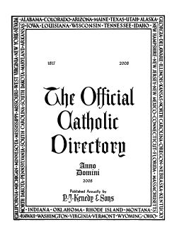 The Official Catholic Directory for the Year of Our Lord     PDF