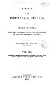 Colonial Records of Pennsylvania: Volume 7; Volume 1851