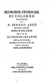 Memorie storiche di Colorno ... Opera postuma con aggiunte