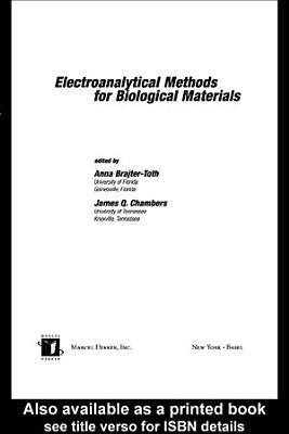 Electroanalytical Methods Of Biological Materials