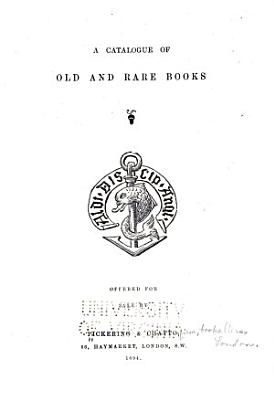 A Catalogue of Old and Rare Books PDF