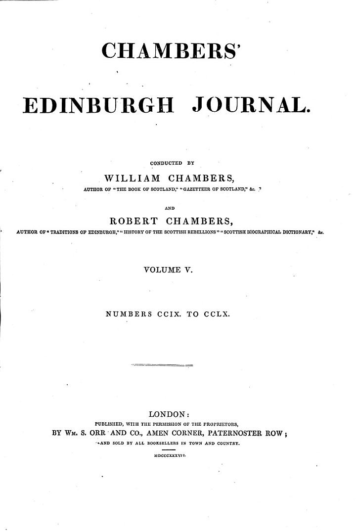 Chambers' Edinburgh Journal