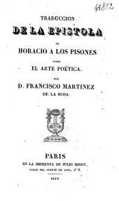 Traduccion de la epístola de Horacio á los Pisones sobre el arte poética