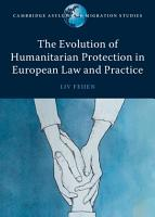 The Evolution of Humanitarian Protection in European Law and Practice PDF