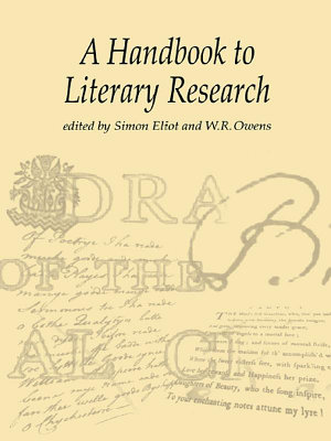 A Handbook to Literary Research PDF