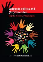 Language Policies and  Dis Citizenship PDF
