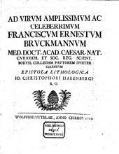 Epistola Lithologica