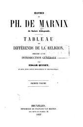 Tableau des différends de la religion: Volume1