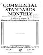 Commercial Standards Monthly  A Review of Progress in Commercial Standardization and Simplification PDF