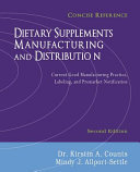Dietary Supplements Manufacturing and Distribution PDF