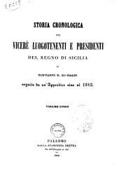 Storia cronologica dei vicere, luogotenenti e presidenti del Regno di Sicilia di Giovanni E. Di Blasi
