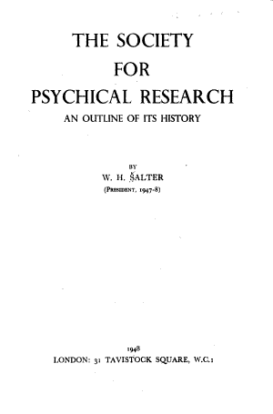 The Society for Psychical Research
