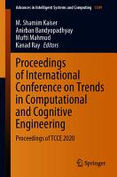 Proceedings of International Conference on Trends in Computational and Cognitive Engineering PDF