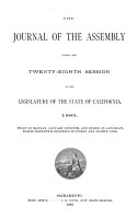 The Journal of the Assembly  During the     Session of the Legislature of the State of California PDF