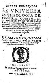 Theses generales ex universa theologia desumptae