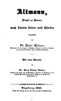 Altmann  Bischof zu Passau  nach seinem Leben und Wirken PDF