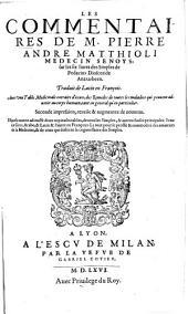 Les commentaires sur les six livres des Simples de Pedacius Dioscoride Anazarbeen