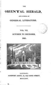 The Oriental herald and colonial review [ed. by J.S. Buckingham].
