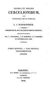 Synonymia Insectorum oder Versuch einer Synonymie aller bisher bekannten Insecten, nach Fabricii Systema Eleutheratorum geordnet etc. - Stockholm, Nordström 1806-45