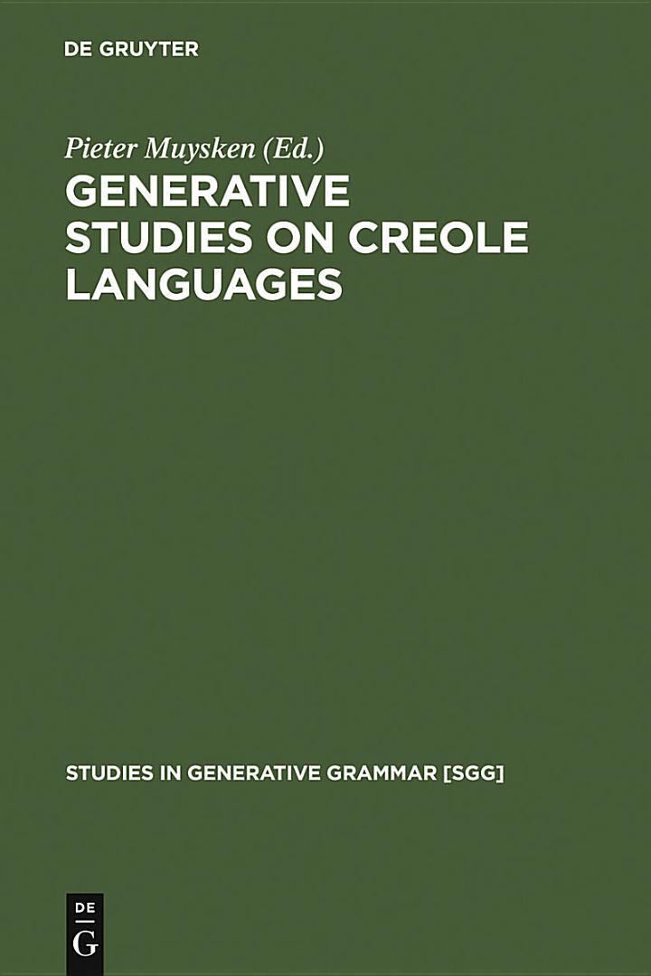 Generative studies on Creole languages