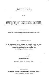Journal of the Association of Engineering Societies: Volume 5
